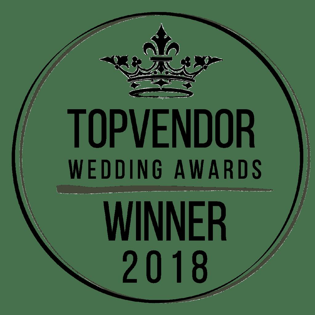 Top Vendor wedding award winner