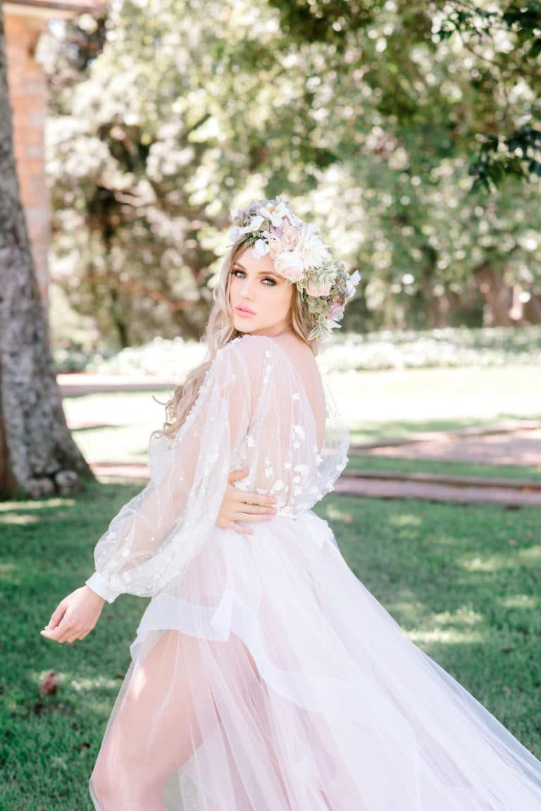sheer-bridal-robe-with-floral-crown