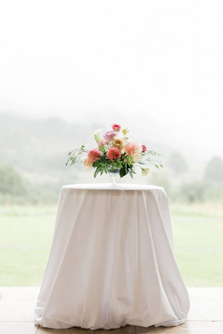 ceremony-florals-blush-and-coral