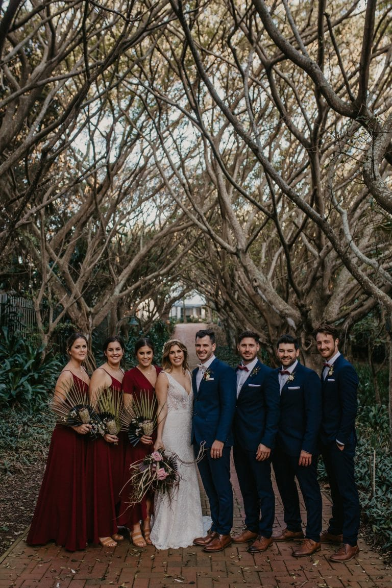 burgundy-and-navy-bridal-party