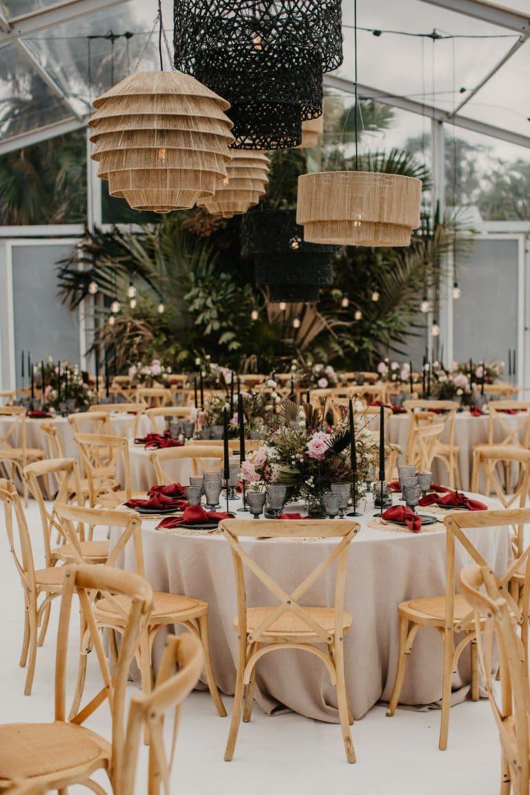 hanging-shades-mismatched-for-coastal-chic-wedding