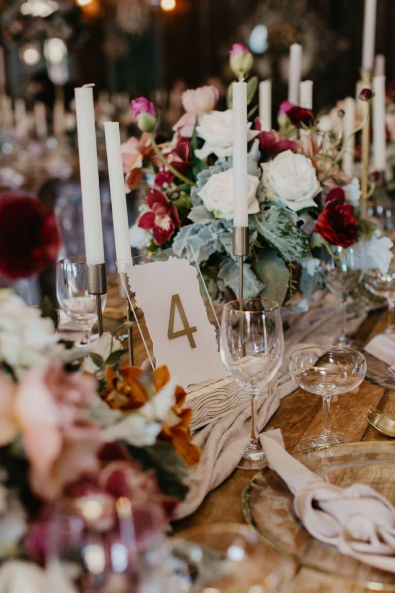 table-number-and-floral-centerpieces