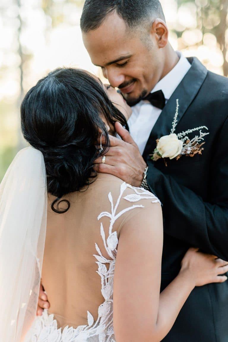 the venue Fontana bride and groom