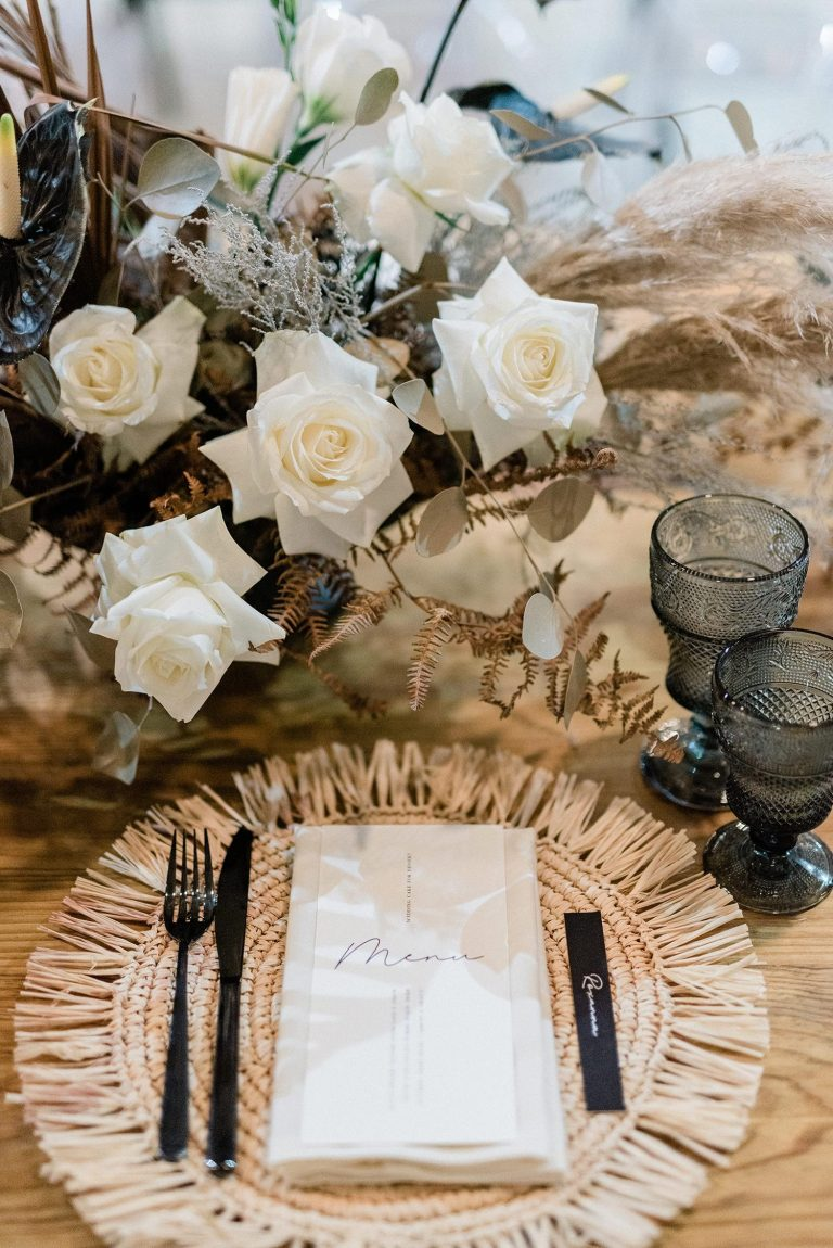 woven placemat modern rustic place setting