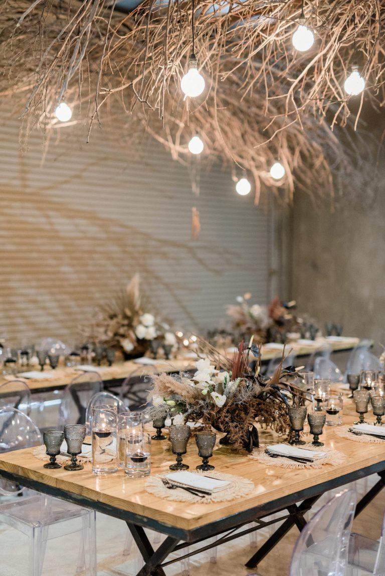 the venue Fontana wedding décor