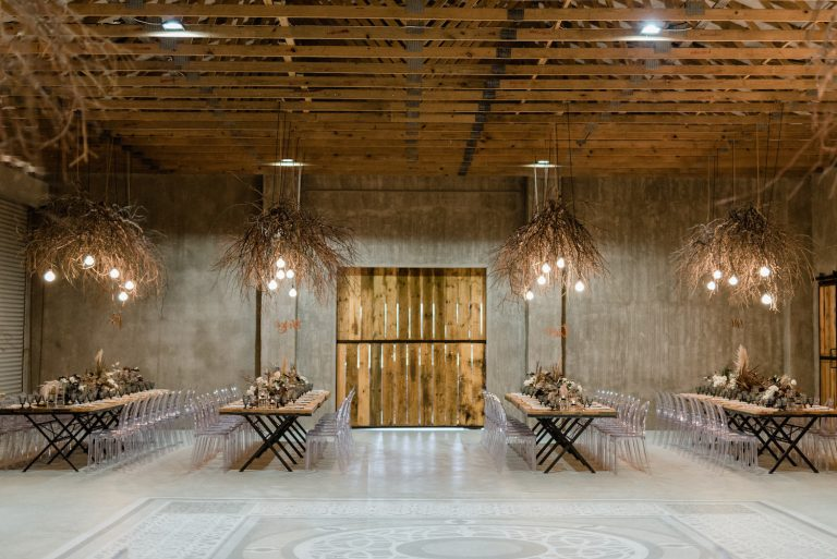 the venue Fontana converted tractor barn reception space