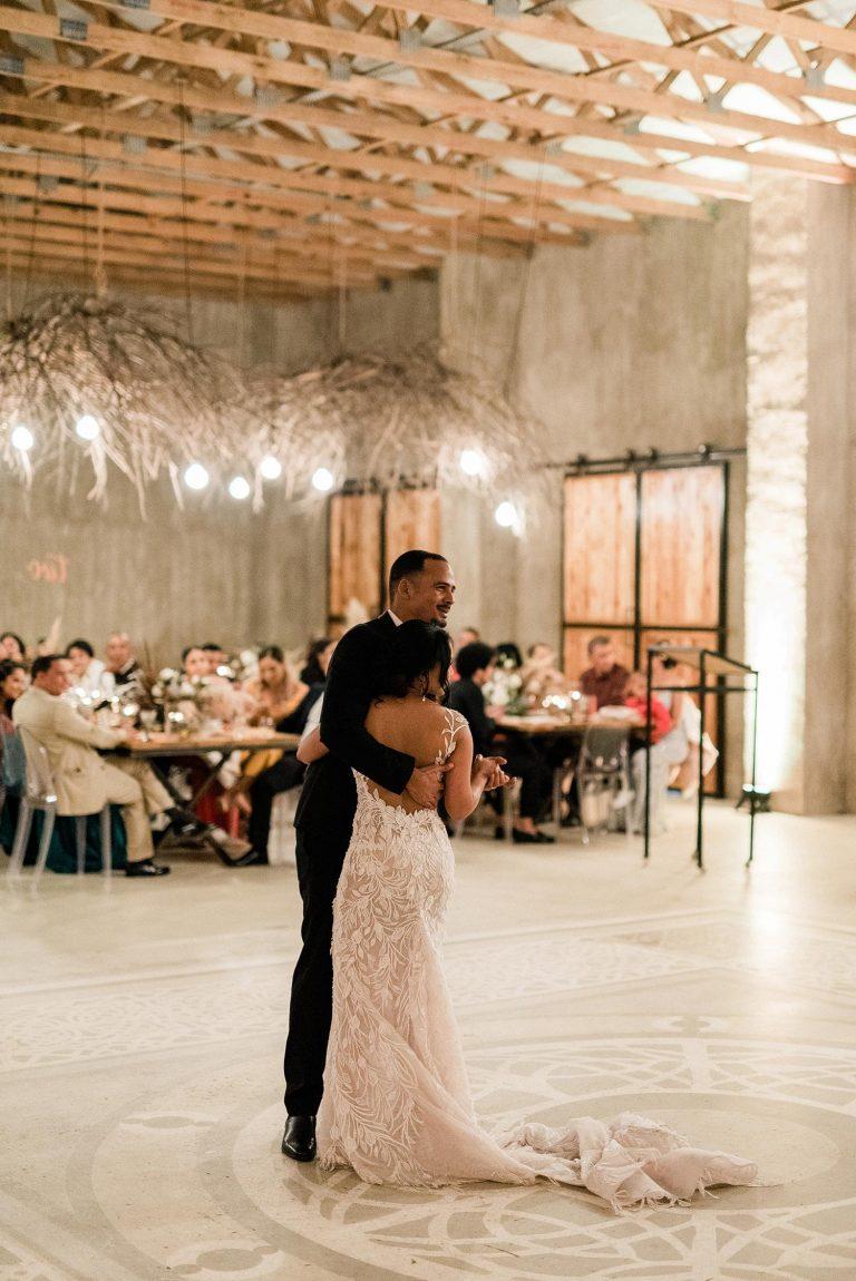 the venue Fontana wedding first dance