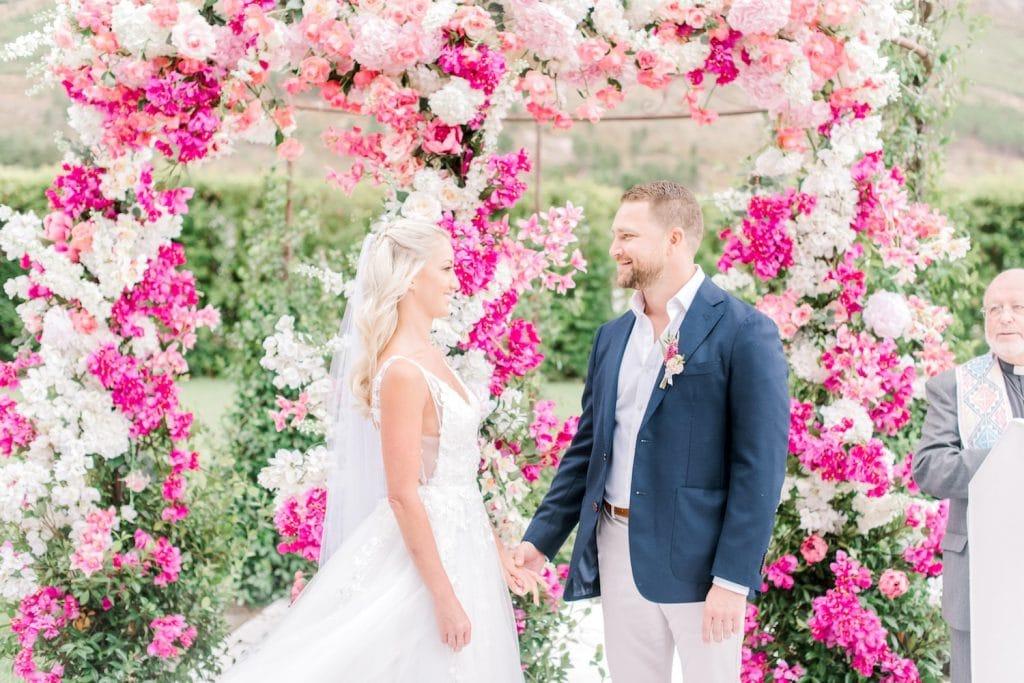 summery pink western cape destination wedding