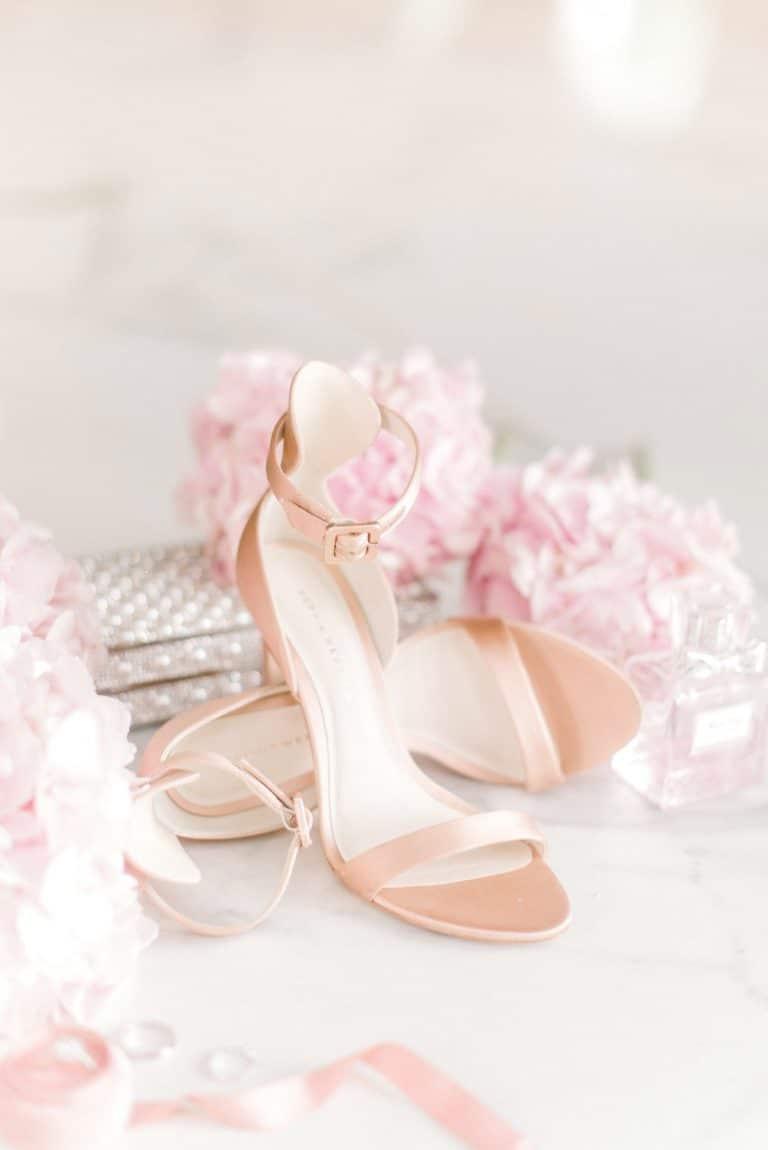 blush bridal shoes Sophia Webster