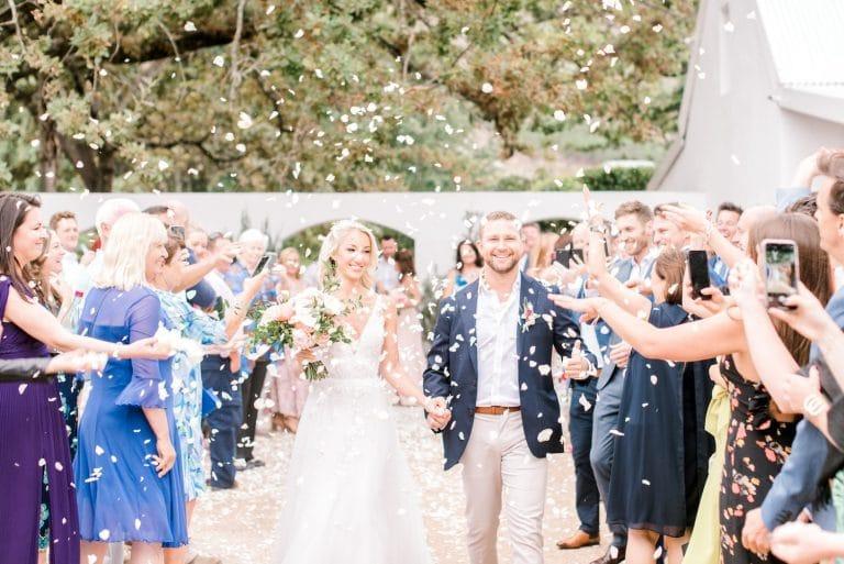 la paris wedding ceremony exit