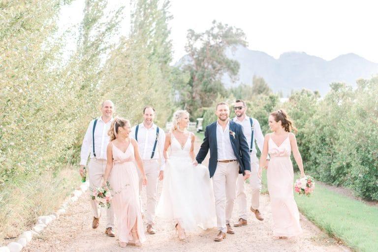 blush vera wang bridesmaid dresses