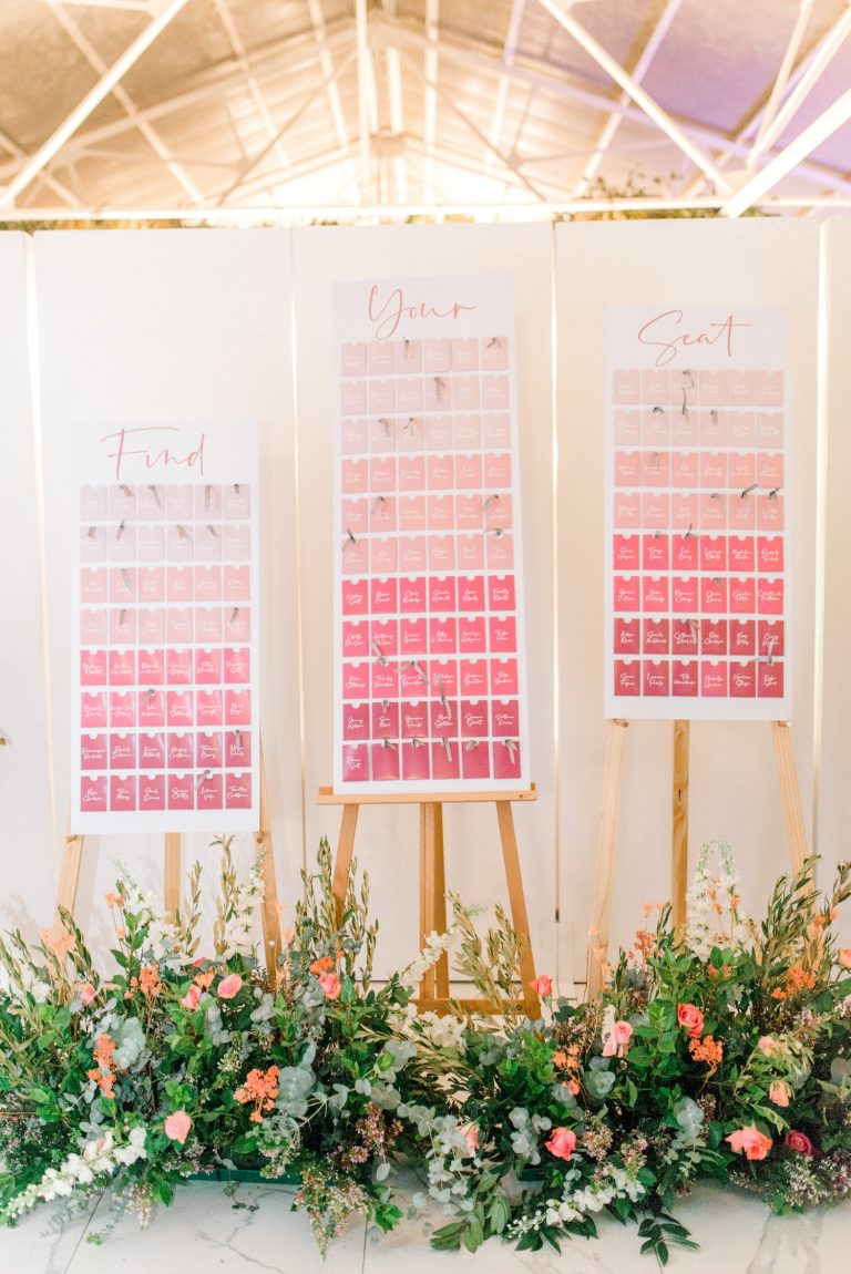 ombre wedding seating charts