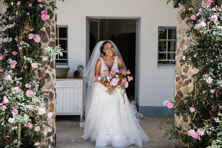 the groves wedding floral arch