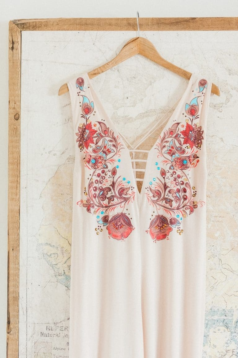 embroidered wedding dress for at-home wedding