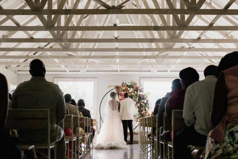 the groves wedding ceremony stone and wood chapel