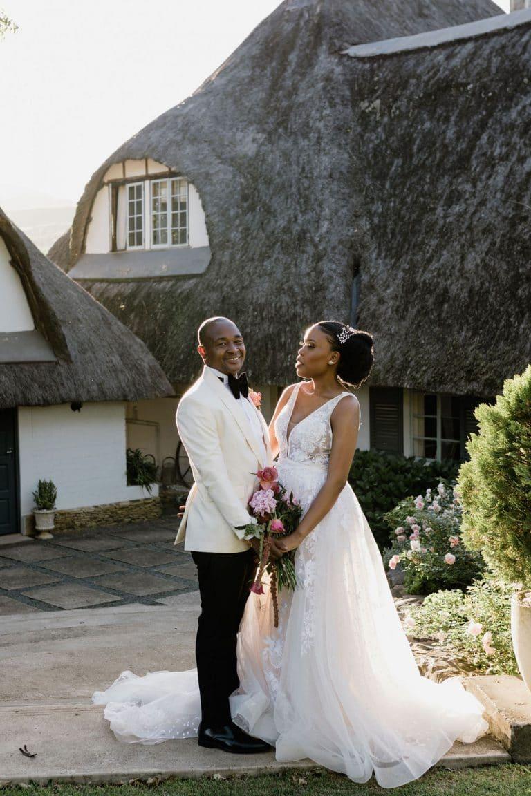 bride and groom the groves wedding venue