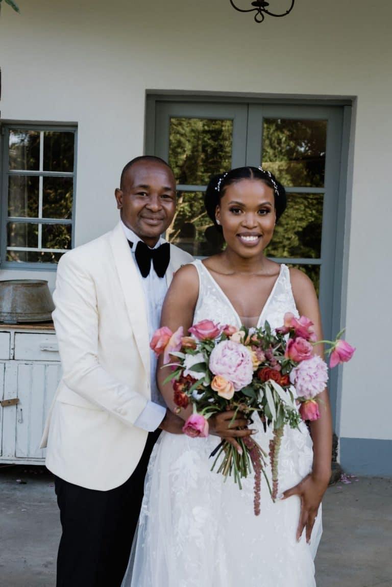 groves wedding bride and groom
