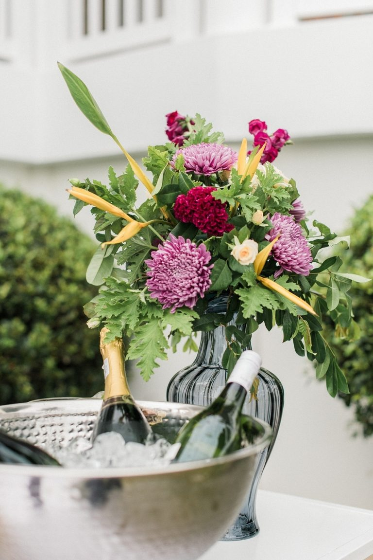 at-home garden wedding drinks