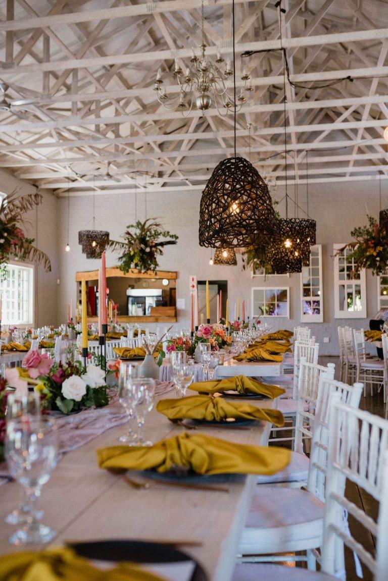colourful table décor