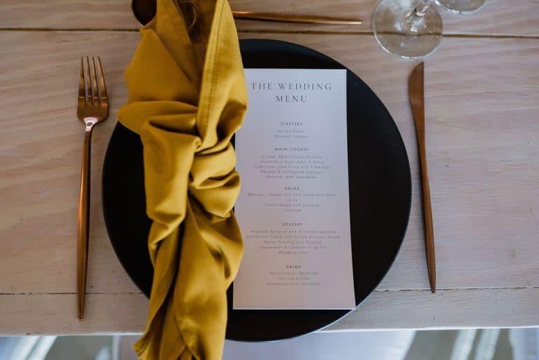 magnolia yellow napkins wedding reception