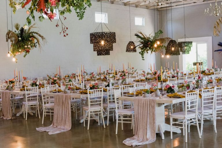 the groves wedding reception tables